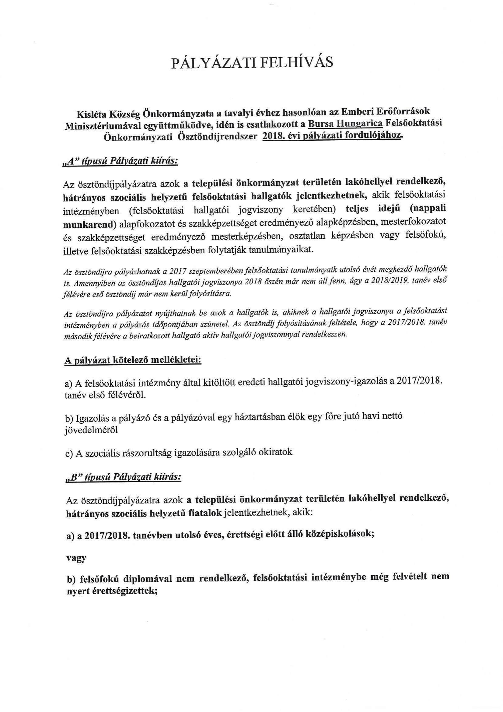 Bursa ösztöndíj (1)