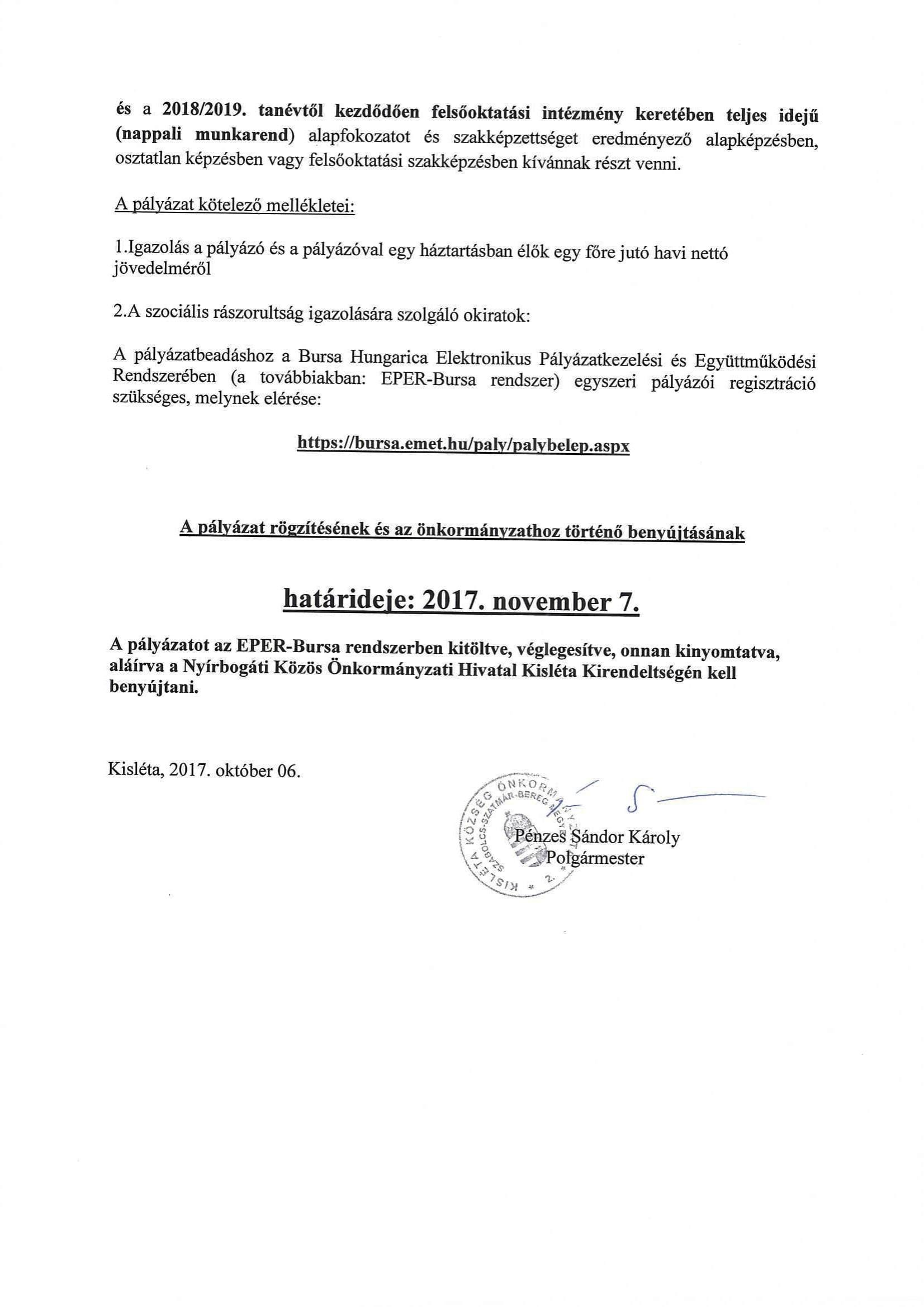 Bursa ösztöndíj (2)