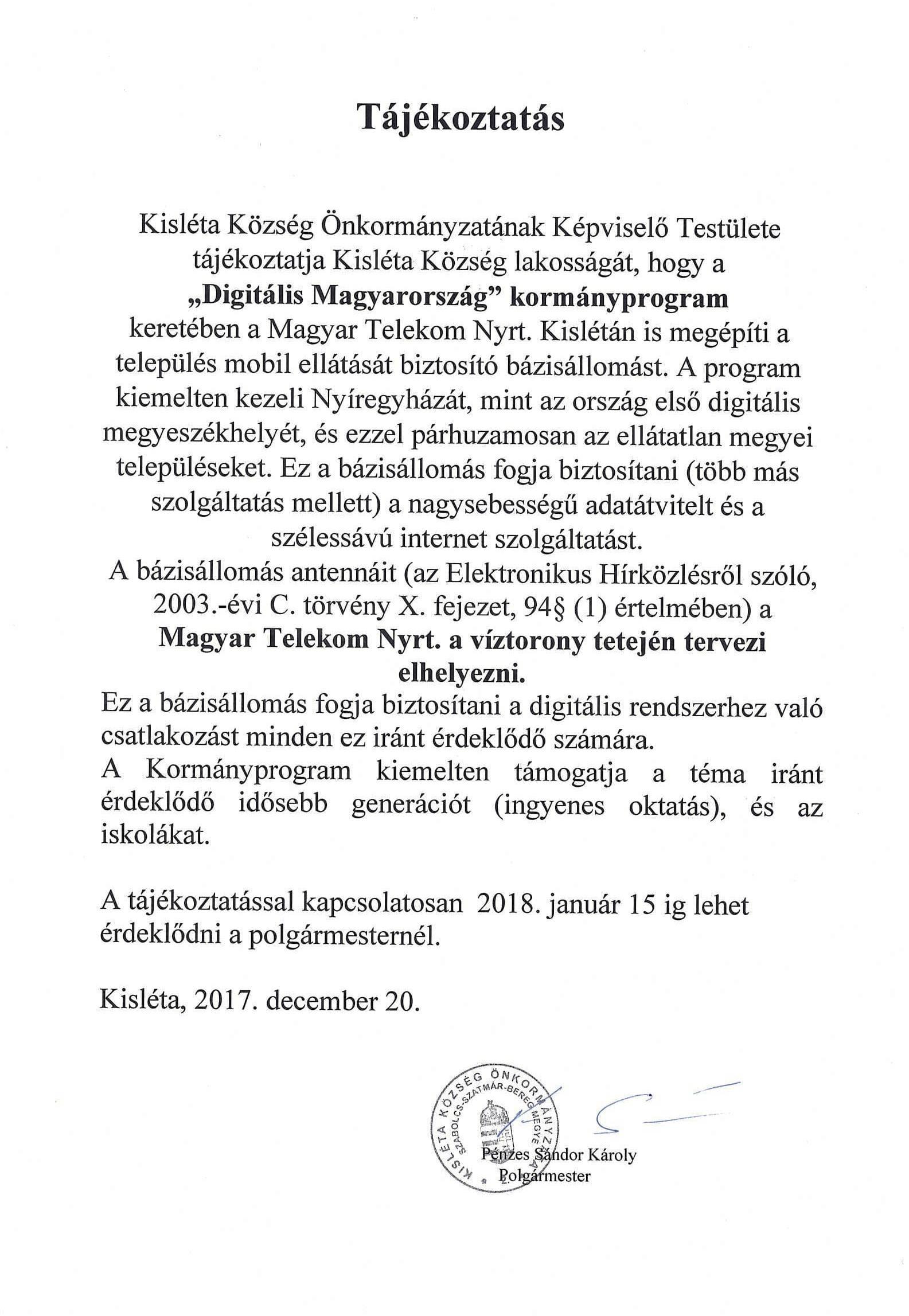,,Digitális Magyarország