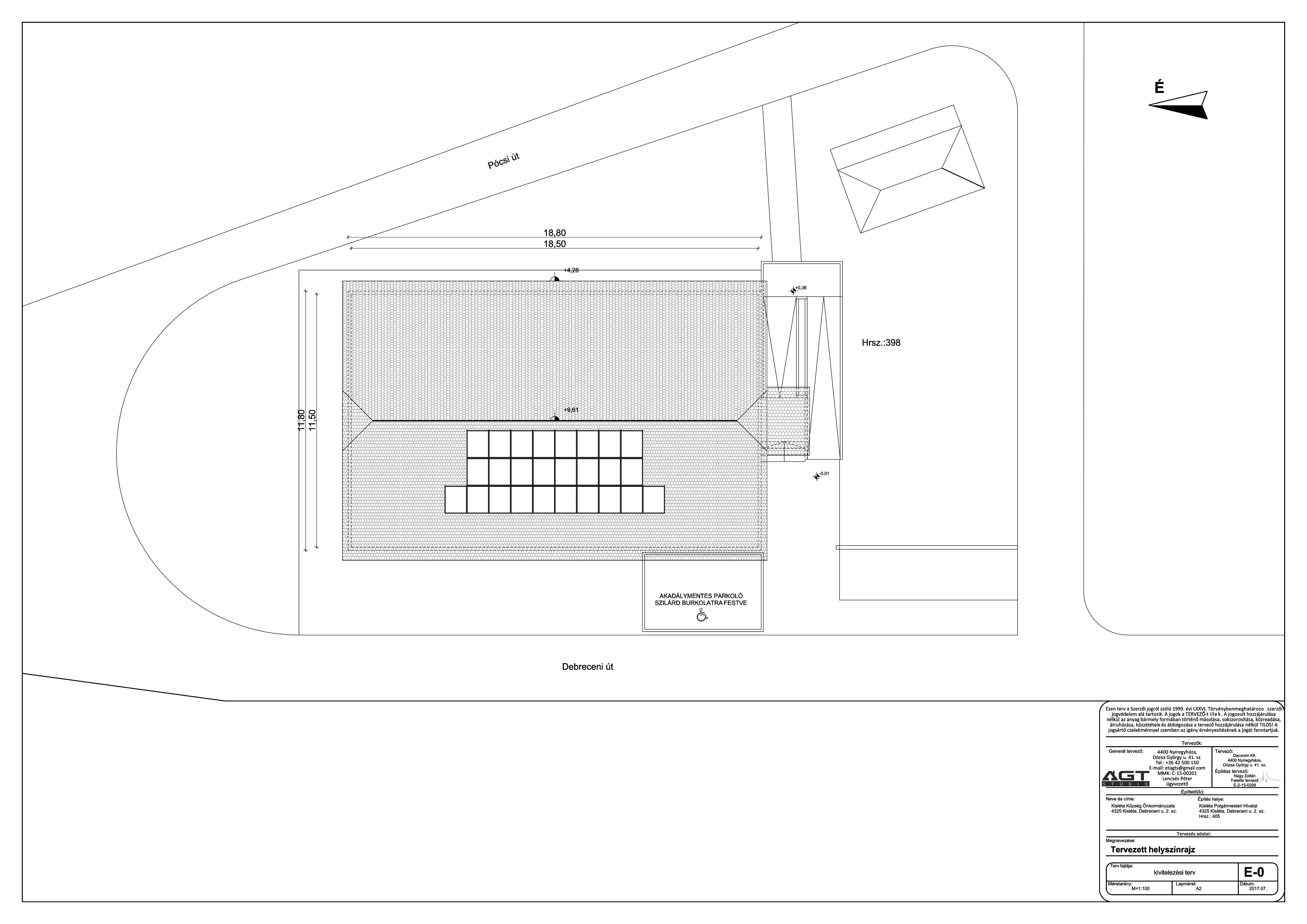 Polgármesteri Hivatal - Tervezett helyszínrajz