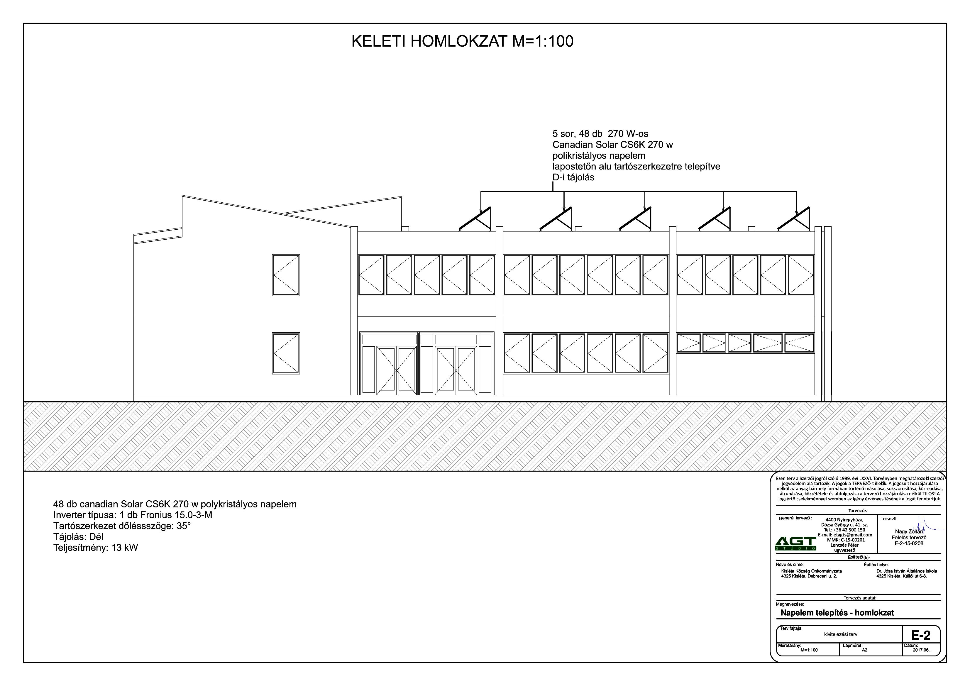 Kisléta - Iskola - Napelem telepítés - homlokzat-1
